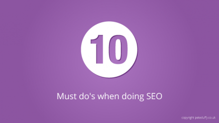 10 things you need when it comes to SEO
