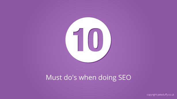 Must do when doing SEO