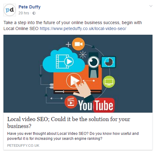 facebook for social media and seo