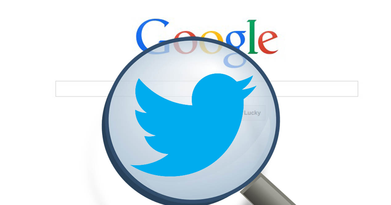 Twitter and Google with social media and SEO