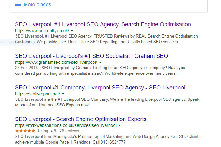 seo rankings liverpool